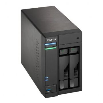 ASUSTOR AS6102T 2-Bay NAS Enclosure (No Drives), Dual Core CPU